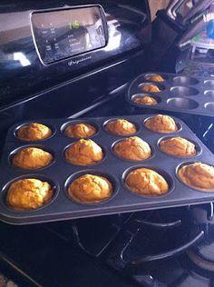 Whole Wheat Mini Pumpkin Muffins