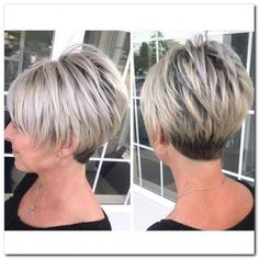 Today we have the most stylish 86 Cute Short Pixie Haircuts. Pixie haircut, of course, offers a lot of options for the hair of the ladies'… Continue Reading → Grey Hair Short Bob, Short Hair With Layers, Short Hair Cuts For Women, Short Cuts, Stacked Haircuts, Short Pixie Haircuts, Blonde Pixie, Great Hair, Bob Hairstyles