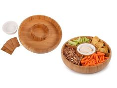 Core Bamboo Revolving Classic Adjustable Chip & Dip from Julie Morgenstern on OpenSky