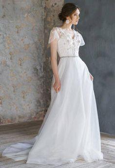 3009 Best Short Sleeved Cap Sleeved Wedding Gown Inspiration Images