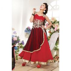 Gauhar Khan (also known as Gauahar Khan) is an Indian model and actress. gauhar khan in anarkali suit, Photos, Biography, Videos and Wallpapers. Gauhar Khan profile on SKBMART.com  Alluring Red And Black Georgette Anarkali Suit embellished with artistic work of floral embroidery, sequins and lace work on west part of the suit by which it seems pretty.