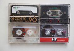 4 SONY Audiokassetten / C 90 / FeCr JAPAN / UX S / FX I / HF