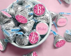 Christening candy stickers for your candy buffet! Personalize the party favors for girls or boys. Great idea for a baptism and dedication too.