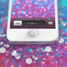 Fancy - Crystal Gem Precious Home Button for iPhone  Just like mine but bling-ier!