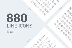 Premium 880 vector line icons - Recommended by Creative Sofa