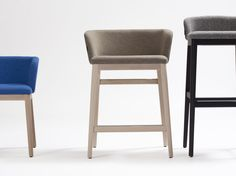 Upholstered wooden stool CONCORD | High stool Concord Collection by Capdell | design Claesson Koivisto Rune