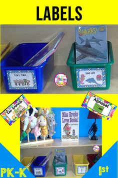 Is your classroom library organized? Re-do your organization with these printable classroom library labels for Pre-K (PK), Preschool, Kindergarten, and first grade grade) classroom. Your shelves will look neat with these book bin labels by genre. Library Book Labels, Classroom Library Labels, Book Bin Labels, Classroom Freebies, Classroom Decor, The Fun Factory, Library Organization, Teaching Activities, Teaching Ideas