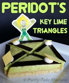 Recipe: (Steven Universe Dessert Series, Pt. 6) Peridot's Key Lime Triangles (or Angry Little Slices of Pie) | Pretty Cake Machine