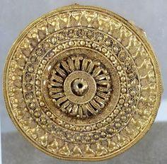 Placche etrusche d'oro con filigrana da collezione falcioni, proven. laziale ma sconosciuta. Museo Gregoriano Etrusco