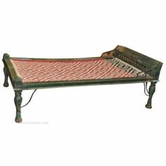 Antique Charpai Cot Commonly used India, Charpai are rustic yet traditional pieces of furniture that has been in use in India for centuries...