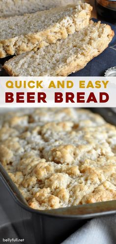 This Homemade Beer Bread Recipe Is Super Easy To Make With Only 6 Ingredients And A Crispy Buttery Crust When Its Done Baking. Extraordinary On Its Own With A Slab Of Butter Or Dipped Into Soup Or Chili Quick Bread Recipes, Cooking Recipes, Easy Recipes, 21st Birthday Cakes, Homemade Beer, Beer Bread, Sorority Canvas, Sorority Paddles, Sorority Crafts