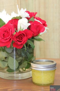 Make your mom DIY peppermint foot scrub for a lovely personal Mother's Day gift!