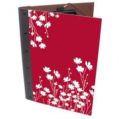 """Werkhaus Shop - Photomappe - 56 """"weiße Blüten auf rot"""""""