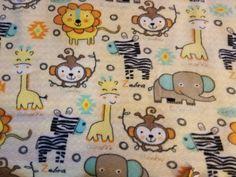 Jungle Fun Animal Fleece Tie Blanket by BetsysItsyEtsy on Etsy