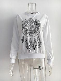 3600+Orders:Price$7.38 New Womens Autumn Long Sleeve Hoodie Sweatshirt Print Casual Hooded Coat Pullover