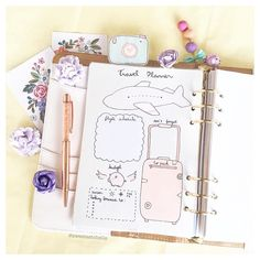 I love how this rose gold @pengems from the Hollywood Boulevard collection goes really well with this insert  #prettyplanner #traveltheworld