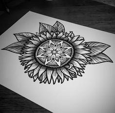 Instragram  @  ishi_tattoo  sunflower mandala