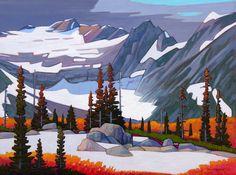 A collection of Paintings by Canadian Painter Nicholas Bott. Mountain Landscape, Landscape Art, Landscape Paintings, Landscapes, Canadian Painters, Canadian Artists, Nature Pictures, Art Pictures, Art Pics