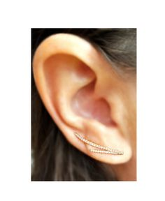 Chic 14K Gold and Diamond Ear Climber from the EarStylist by Jo Nayor.