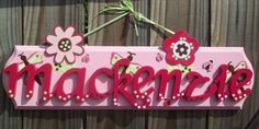 Custom Wood Sign  Name Plaque for Kids & Babies Personalized any Color or Theme. $33.99, via Etsy.