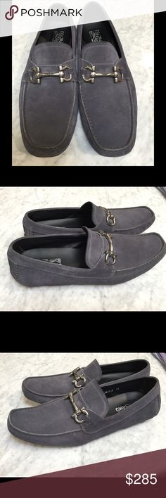 Ferragamo blue suede loafers - 12 Salvatore Ferragamo blue suede loafers size 12 w/rubber sole.  Great condition 9/10. Salvatore Ferragamo Shoes Loafers & Slip-Ons