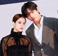 #vsoo #taesoo #jisoo #taehyung #v #bts #blackpink #bangtanpink Bts Blackpink, Kpop Couples, Sunflower Wallpaper, Blackpink And Bts, Blackpink Jisoo, Brain Teasers, Asian Actors, My Character, Couple Goals