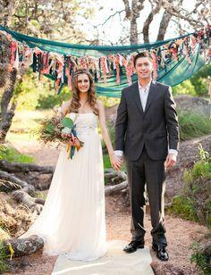 Mid-Century Desert Wedding Inspiration as seen on Green Wedding Shoes - designed by Clink October Wedding, Autumn Wedding, Lake Wedding Inspiration, Wedding Bells, Wedding Ceremony, Bohemian Chic Weddings, Amazing Weddings, Ceremony Decorations, Ceremony Backdrop