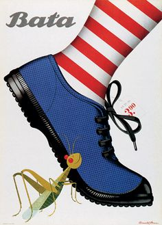 Donald Brun | Poster for Bata shoes, 1946.