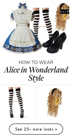 """A L I C E in M A D N E S S"" by grandmasfood on Polyvore featuring Leg Avenue, Louis Vuitton and Buy Seasons"