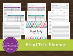 Road trip planner - printable and editable - travel planner - vacation plan Road Trip Planner, Vacation Planner, Travel Planner, Weekly Planner, Budget Travel, Travel Tips, Printable Planner, Printables, Travel Itinerary Template