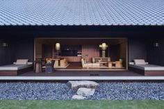 Our photo gallery lets you explore the beauty of Amanemu. View luxury villas & suites and the stunning views Ise-Shima National Park has to offer at Amanemu. Modern Minimalist, Minimalist Design, Design Entrée, Tan House, Japanese Modern, Japanese Style, Entrance Design, Space Interiors, Luxury Accommodation