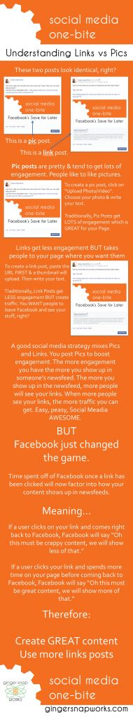 Understanding links and pic in Facebook - GingerSnapWorks - Marketing strategy for small business Content Meaning, Snap Words, Time For Change, Ginger Snaps, Improve Yourself, Meant To Be, It Works, Social Media, Marketing