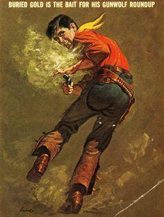 Shot Book, West Art, Book Illustration, Illustrations, Pulp Magazine, Pulp Art, Old West, Cover Art, Westerns
