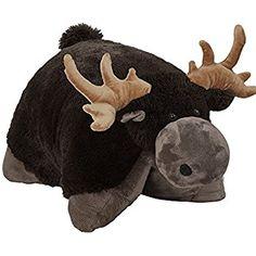 Pillow Pets Chocolate Moose Plush - Snuggly Moose Stuffed Animal Plush Toy