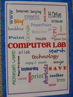 Word Cloud for the Computer Lab