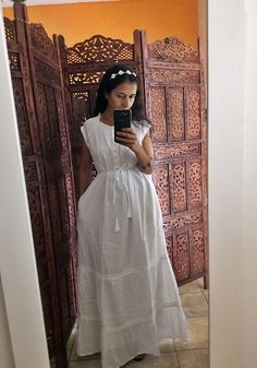 fec6e05ff vestido longo branco laise com babado retro festa no Elo7 | Belíssima Moda  Criativa Bordados e