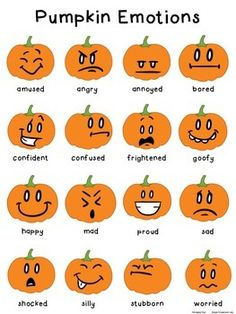 FREE Download: Pumpkin Emotions Poster and Memory Game
