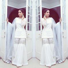 Champagne gold peplum top with draped skirt – feather dress Pakistani Wedding Outfits, Pakistani Dresses Casual, Pakistani Dress Design, Stylish Dress Designs, Stylish Dresses, Casual Dresses, Fashion Dresses, Ethnic Outfits, Indian Outfits