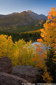 Bear Lake, Rocky Mountain National Park, Colorado; photo by Ron Niebrugge  We love fall