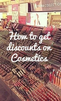 How to get discounts on beauty products: Sephora, elf Cosmetics, Burt's Bees, ULTA. BEST PIN EVER!