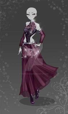 (closed) Auction Adopt - Outfit 405 by CherrysDesigns Fashion Mode, Look Fashion, Fashion Art, Dress Drawing, Drawing Clothes, Fashion Design Drawings, Fashion Sketches, Anime Outfits, Cool Outfits