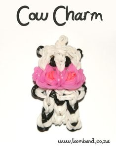 Cow charm loom band tutorial, instructions and videos on hundreds of loom band designs. Shop online for all your looming supplies, delivery anywhere in SA.