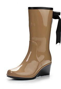 Резиновые полусапоги Keddo женские. Цвет: бежевый. Материал: резина. Сезон: Осень-зима 2014/2015. С бесплатной доставкой и примеркой на Lamoda. http://j.mp/1zwyF9s