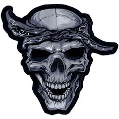 Skull Embroidered Products On Sale