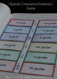 Gustar Spanish Interactive Notebok