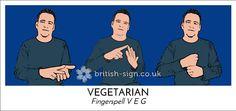 Today's #BritishSignLanguage sign is: VEGETARIAN #VeganMonth