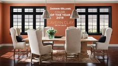 Sherwin-Williams Color of the Year Cavern Clay (SW Forged by sun. Fired by desert. Ancient, yet fully alive. Bohemian, yet totally refined. Cavern Clay brings new life to any living space.