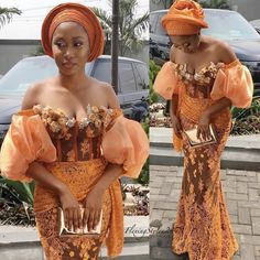 Aso Ebi Lace Styles, African Lace Styles, Lace Dress Styles, African Bridesmaid Dresses, African Wear Dresses, Latest African Fashion Dresses, Nigerian Dress, Burnt Orange Dress, African Traditional Dresses