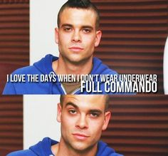 Puck.  Not only is this a Puckleberry-related pin, but I adore Mark Salling in that color blue.