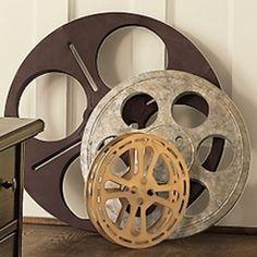 Media Room/Home Theater Decor ~ Film Reels Movie Theater Rooms, Home Theater Setup, Home Theater Seating, Cinema Room, Theater Room Decor, Cinema Cinema, Cinema Ticket, Cinema Movies, Movie Reels